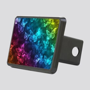 butterfly rainbow Rectangular Hitch Cover